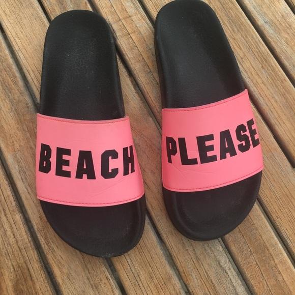 Victoria Secret PINK Beach Please Slider Sandals NWT