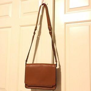 Zara basic leather cross body bag