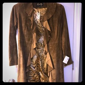 Scully Jackets & Blazers - Suede tan long jacket🐆