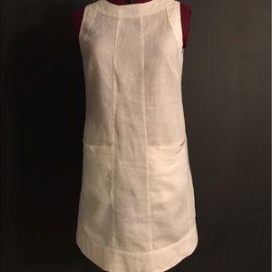 Island Company white linen classic shift dress