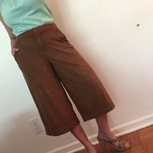 Old navy brown cropped culottes