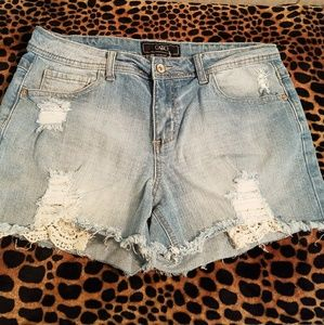 Cato Pants - Super Cute Distressed Shorts! Sz 12