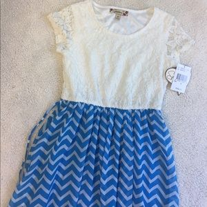 Speechless Other - Girls Blue and ivory high low dress