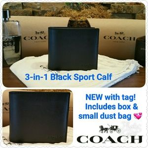 Coach Other - *SALE* NEW Coach Wallet w/ID passcase (Black)