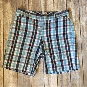 Dockers Pants - Dockers plaid print ideal fit shorts