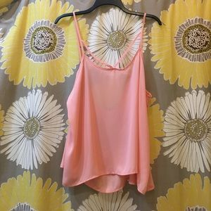 Audrey 3+1 Tops - Coral tank top blouse