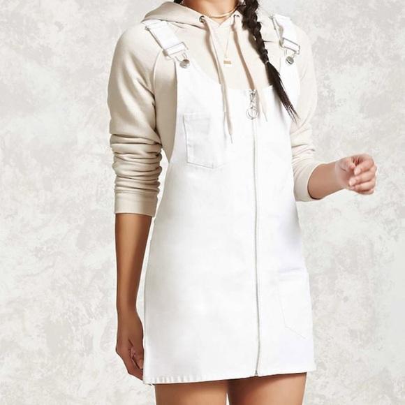 Ring Zipper Overall Dress