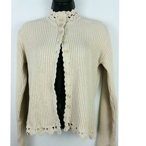 April Cornell Sweaters - April Cornell beige sweater Cardigan M