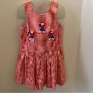 Bailey Boys Red and White Checkered Lined Dress