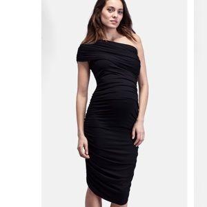 Isabella Oliver Dresses & Skirts - Isabella Oliver Ruched 1-Shoulder Maternity Dress