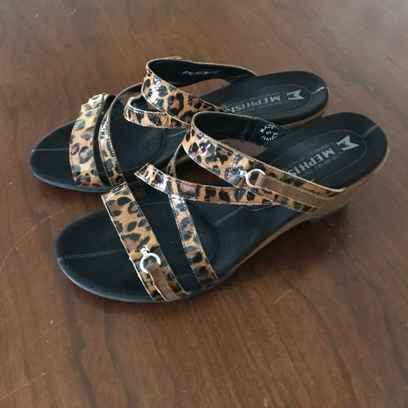 Mephisto Shoes | Leopard Sandals | Poshmark