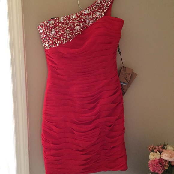 ruby red cocktail dress