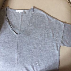 Minnie Rose Silk & Cashmere Short Sleeve Sweater