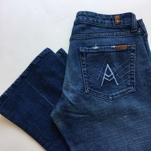 7fam A pocket cropped jeans