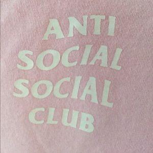 Anti Social Social Club Tops - Knock Off Anti Social Social Club Pink Tee Large