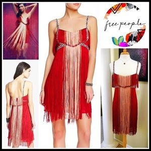 FREE PEOPLE PARTY DRESS Flapping My Fringe