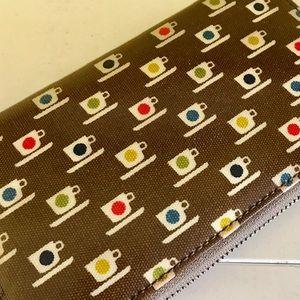 Orla Kiely Handbags - Orla Kiely teacup brown multicolor zip wallet
