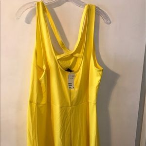 H&M Yellow Fit and Flare Dress