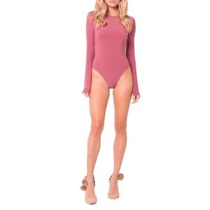 NEW Mauve Berry Long Sleeve Bodysuit