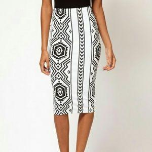 ASOS Pencil Skirt in Geo-Tribal Print