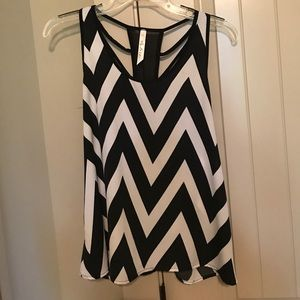 Andree Tops - Black and white blouse.