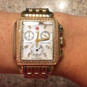 Michele Accessories - sale! Michele Tri tone tricolor diamond deco watch
