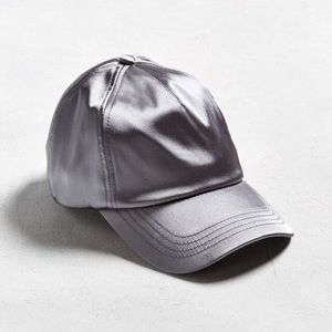Urban Outfitters Other - ❤️NWT Satin Silver Urban Outfitters Hat