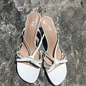 BP Shoes - BP white open toe dress sandal