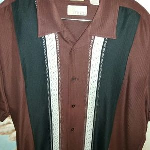 Cubavera Other - Mens brown short sleeve button by Cubavera. Large