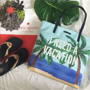 kate spade I Need A Vacation Tote. Price firm.