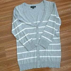 The Limited Jackets & Blazers - The Limited striped cardigan