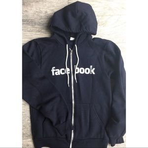 American apparel Facebook zip up hoodie sz small