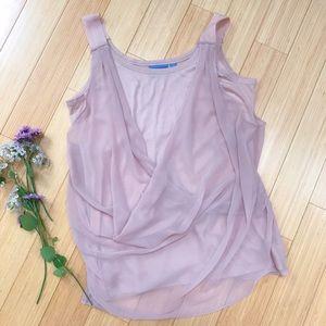VERA WANG dusty pink shirt, L.