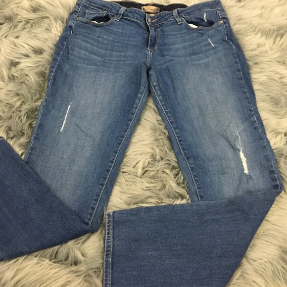 Paige jeans paige jimmy jimmy boyfriend skinny jeans for Do true religion shirts run small or big