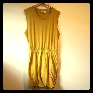 American Vintage Dresses & Skirts - Chartreuse bubble skirt cotton dress