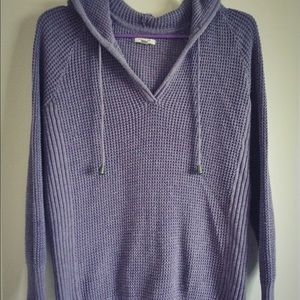 Sonoma Sweaters - Sonoma Knit Lavender Sweater Hoodie Large