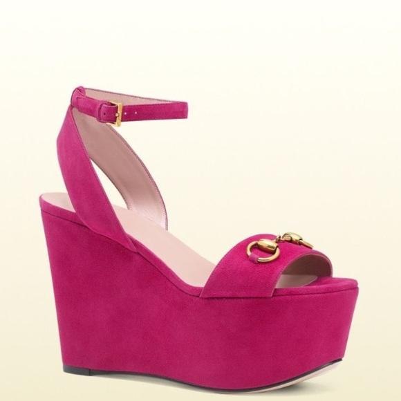 0b6de4b34f9a Gucci Shoes - Gucci suede Horsebit Platform wedges