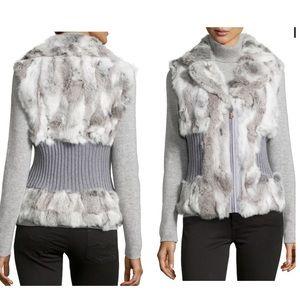Jackets & Blazers - ❌Genuine Rabbit Fur Cinched-Waist Vest❌