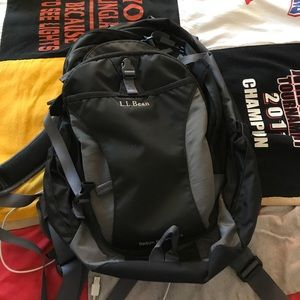 36 off l l bean handbags hp llbean black backpack book bag from lauren 39 s closet on poshmark. Black Bedroom Furniture Sets. Home Design Ideas
