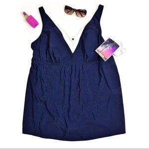 Avenue Plus Size Swim Dress