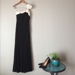 Cache Dresses & Skirts - Cache gown mermaid jeweled bow satin maxi 2 4