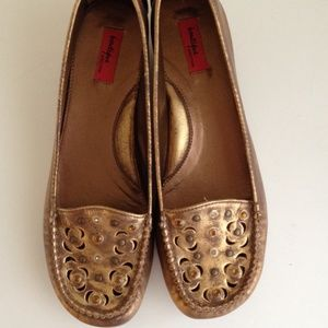 Nordstrom boutique metallic studded flats