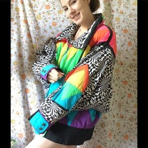 SOLD Rainbow Kaleidoscope Neon Magic 🌈 Ski Jacket