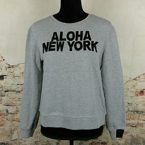 Aiko Tops - AIKO Aloha New York Sweatshirt Size Medium Gray