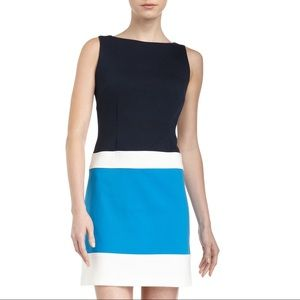 Laundry by Shelli Segal Dresses & Skirts - Laundry Colorblock Ponte Sheath Dress in Blue