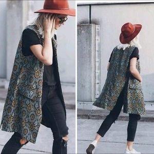 Zara Jackets & Blazers - FINAL Zara Woman Floral Jacquard Waistcoat