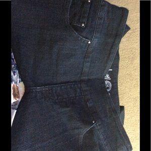 Denim - Ethyl Jeans. Sz 8. Stretch Dark demin