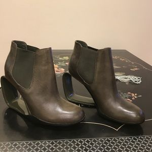 United Nude olive grey ankle boots.