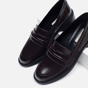 Zara Brown Loafers