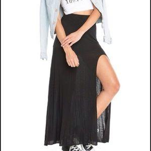 Brandy Melville Dresses & Skirts - Brandy Melville High Slit Maxi Skirt